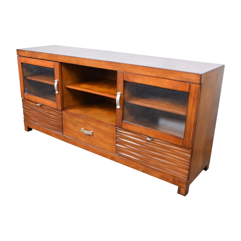 47 Off Bob 39 S Furniture Bob 39 S Furniture Wood Tv Stand With Storage Storage