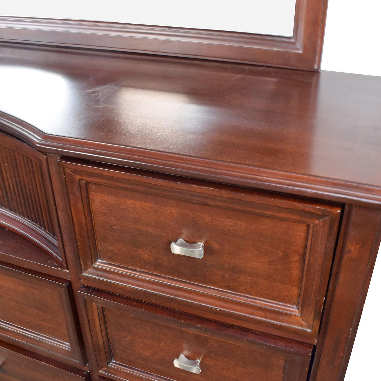 ... Buy Bobu0027s Furniture Bobu0027s Furniture Cherry Wood Dresser With Mirror ...