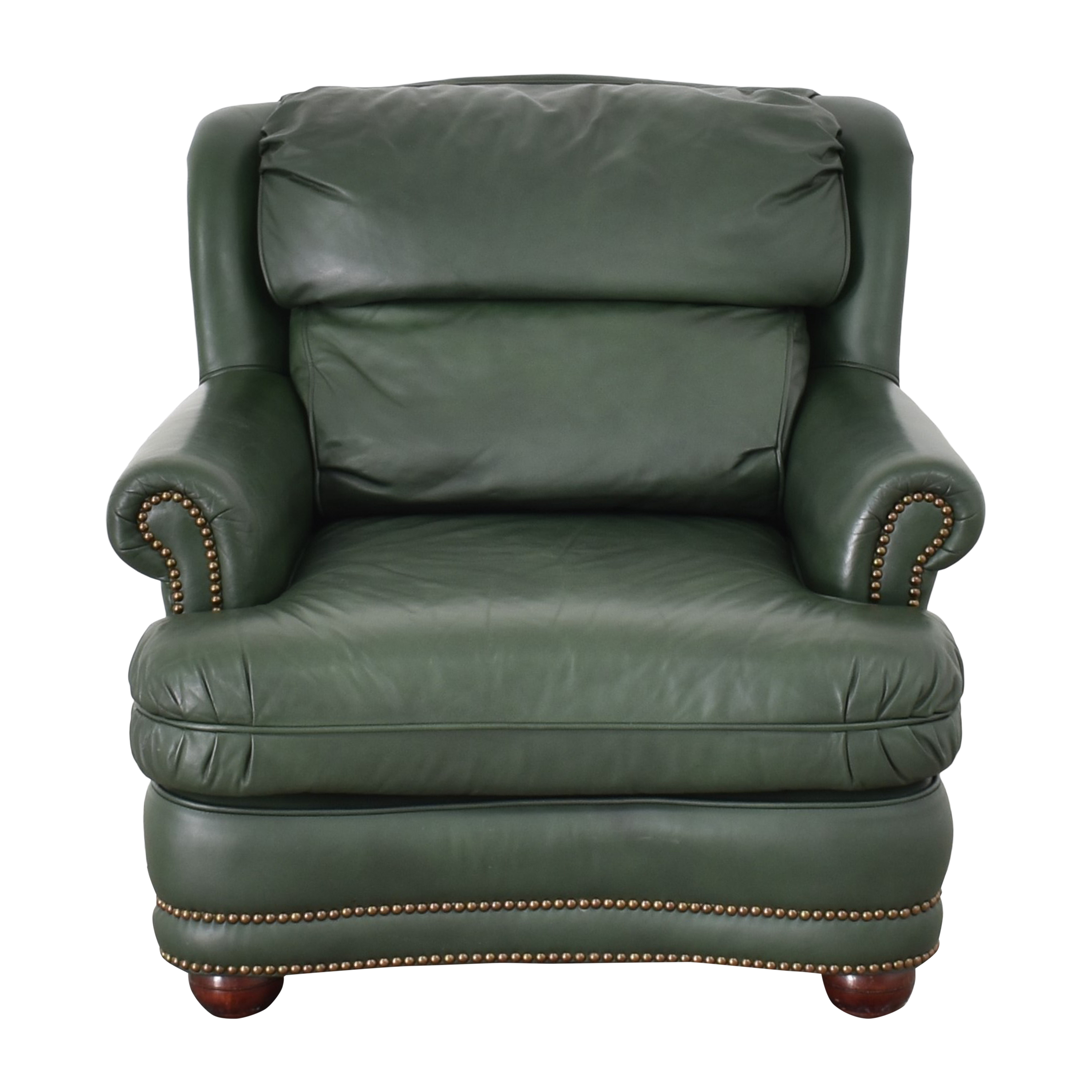 buy Classic Leather Nailhead Lounge Chair Classic Leather Accent Chairs