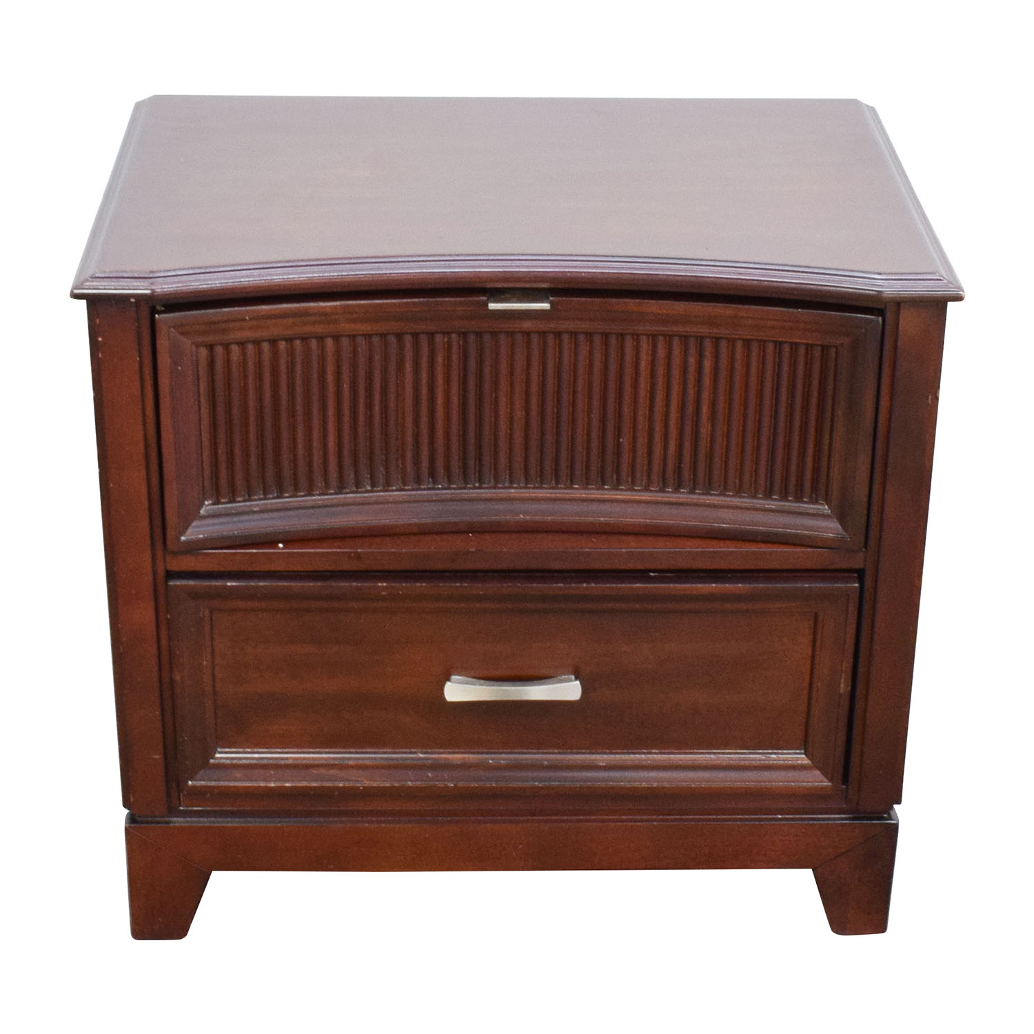 shop Bobs Furniture Dark Brown Wood Nightstand Bobs Furniture Tables
