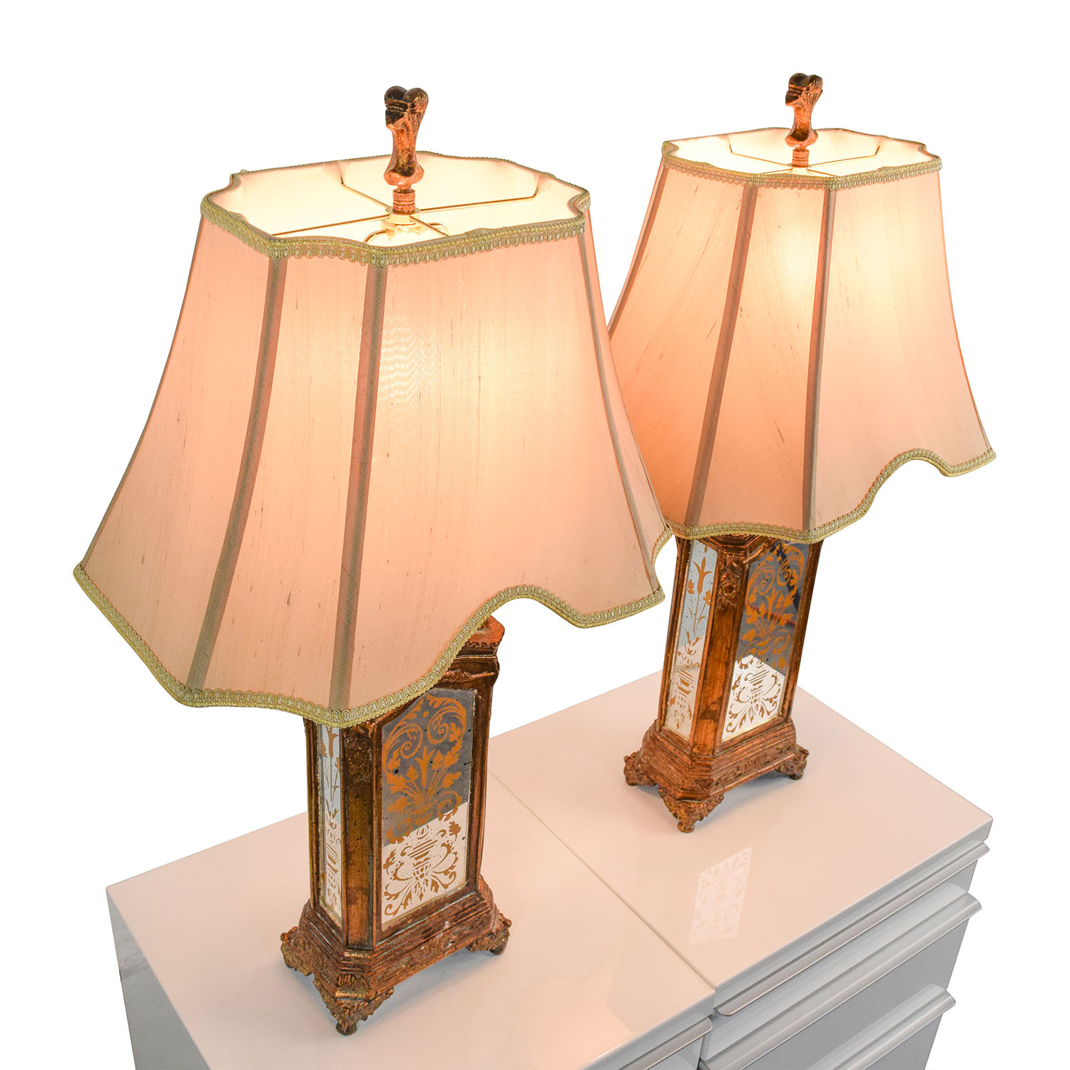 76 off horchow horchow hand painted table lamps decor buy horchow hand painted table lamps horchow lamps geotapseo Gallery