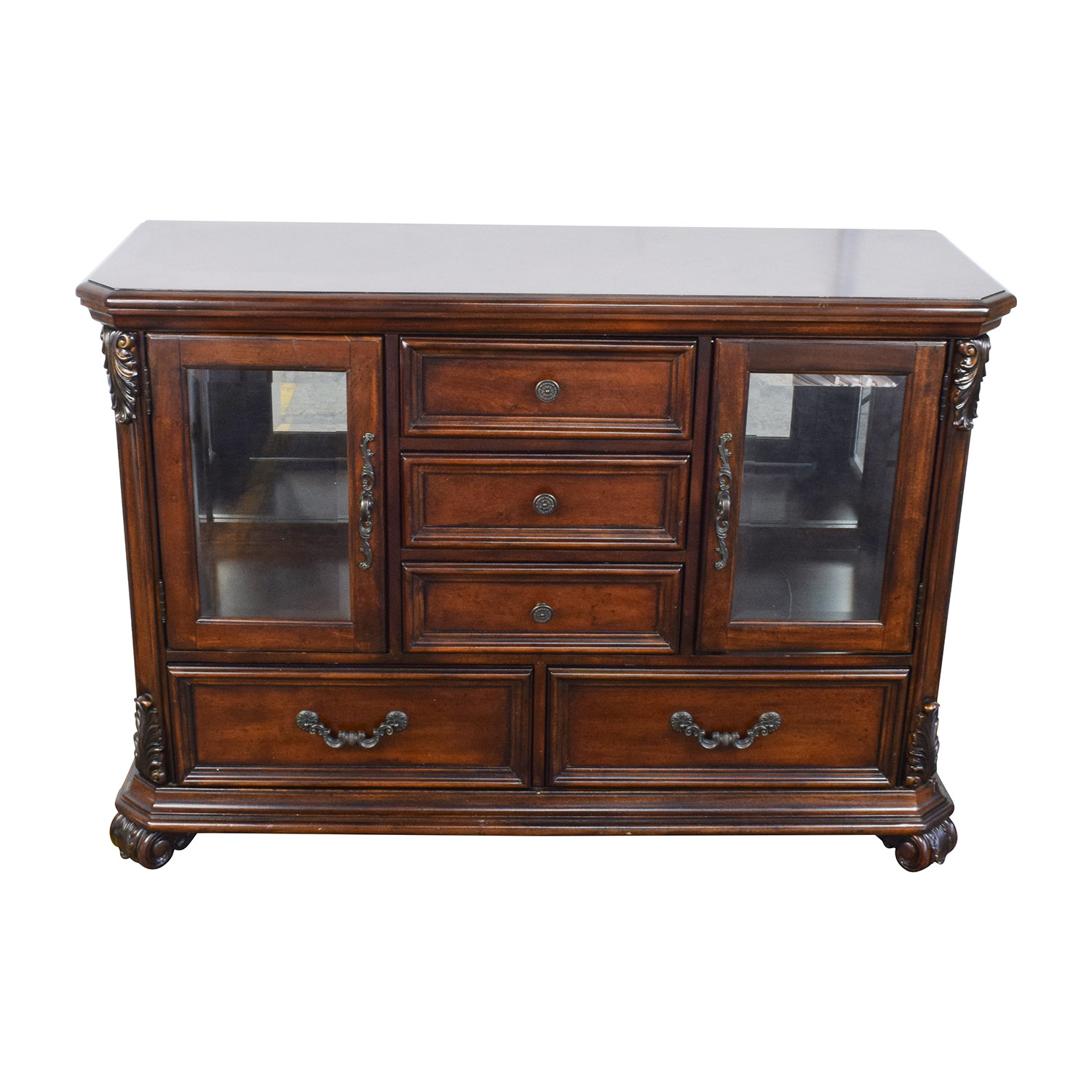 Superieur ... Raymour And Flanigan Raymour U0026 Flanigan Wood Bar With Glass Display Case  Second ...
