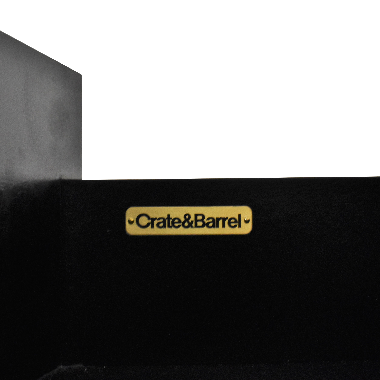 Crate & Barrel Colette Espresso 5-Drawer Chest / Storage