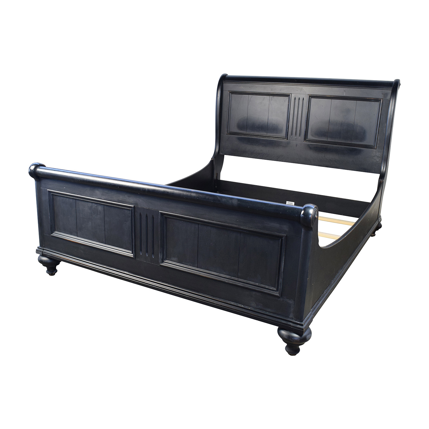 56 off ethan allen ethan allen ebony queen sleigh bed beds - Ethan allen queen beds ...