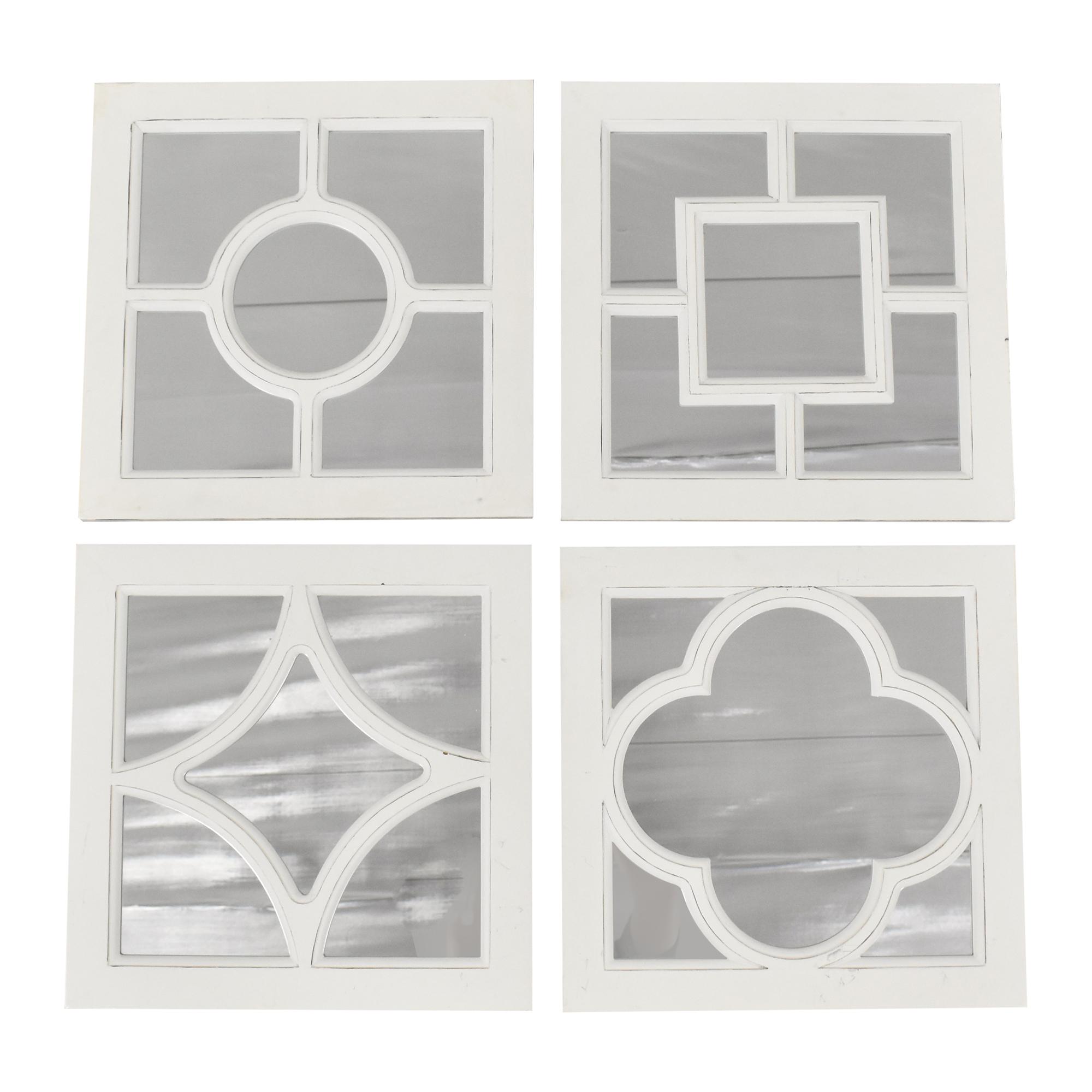 Creative Co-Op Creative Co-Op White Geometric Mirrors nj
