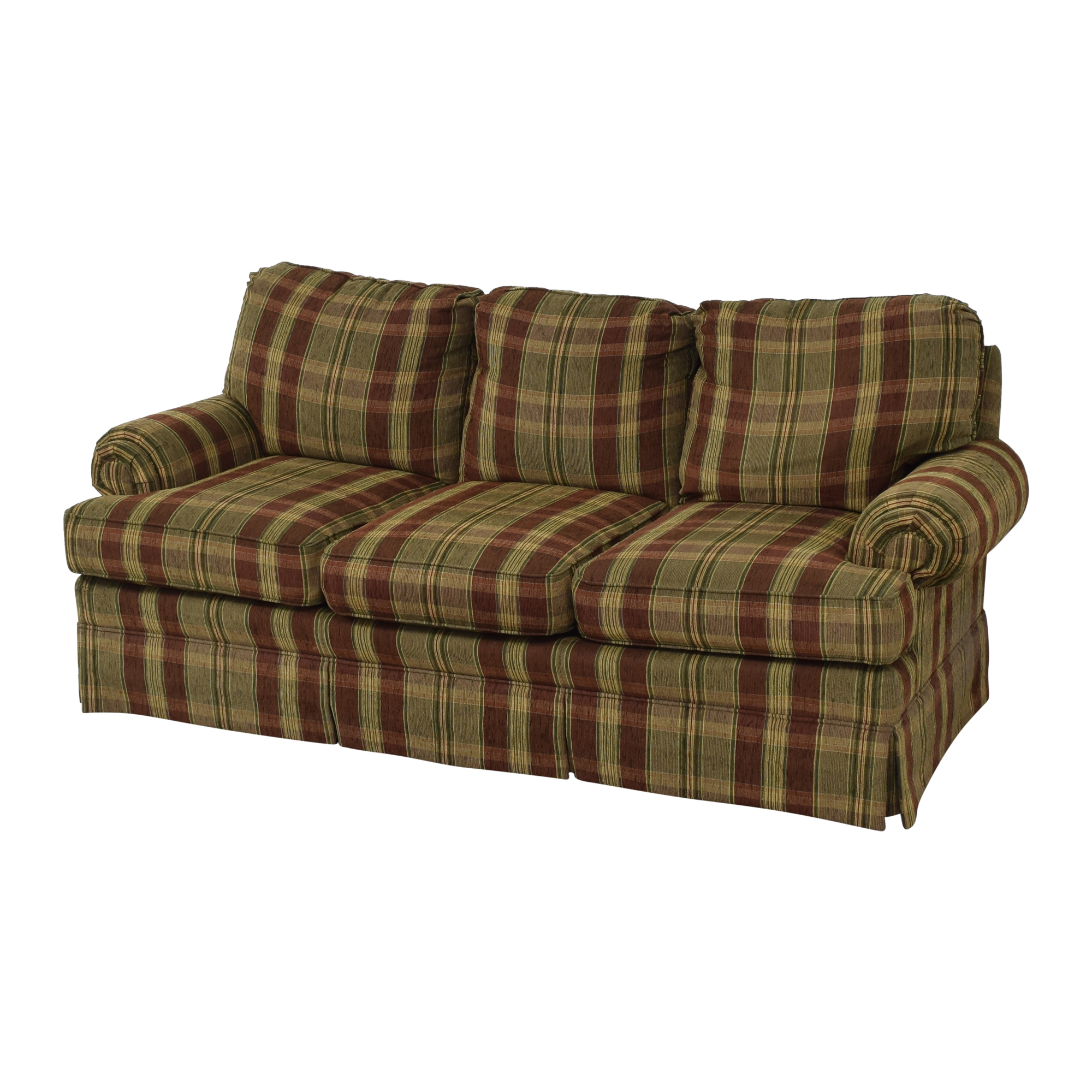 Thomasville Thomasville Plaid Skirted Sofa discount