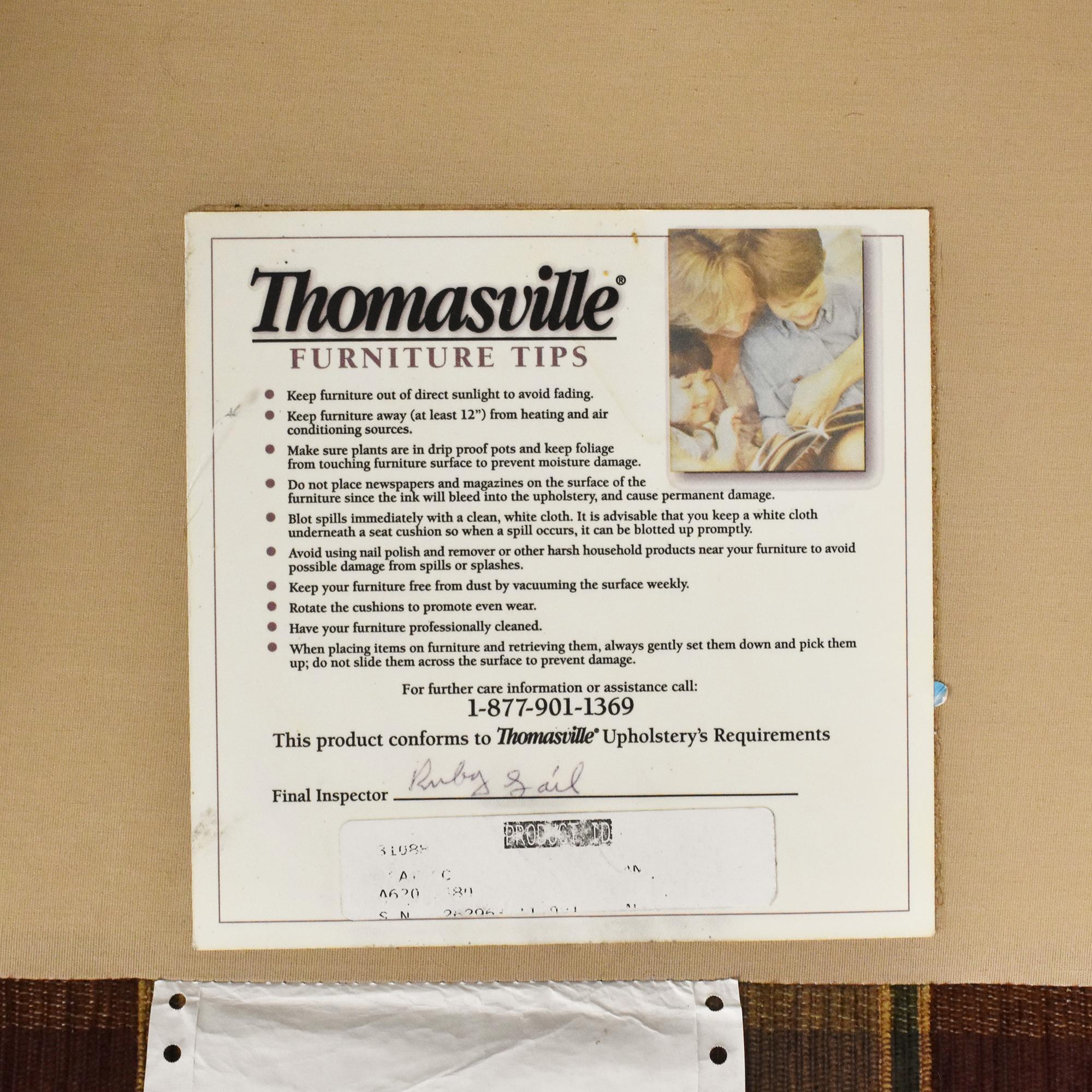 Thomasville Thomasville Plaid Skirted Sofa nyc