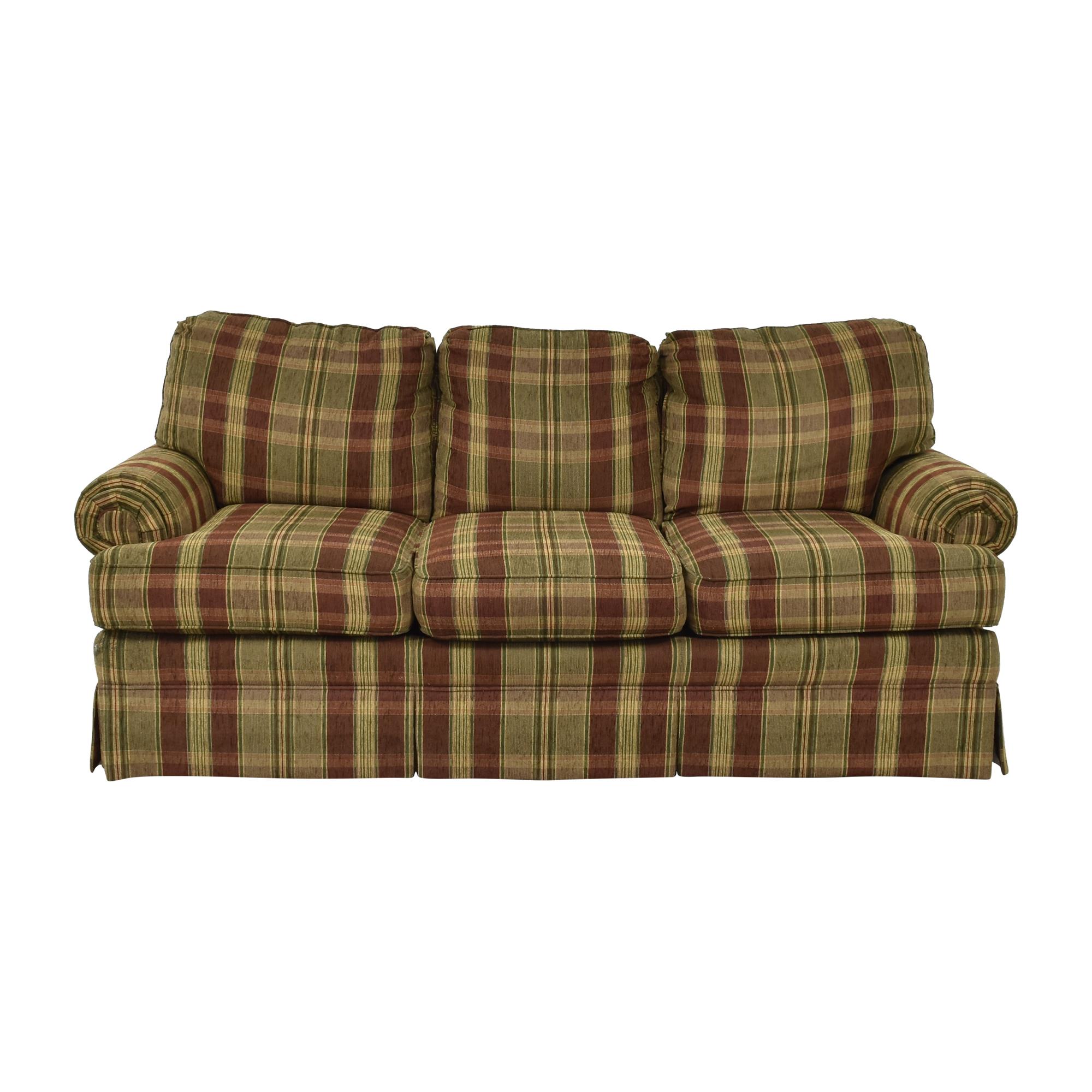 Thomasville Thomasville Plaid Skirted Sofa ma