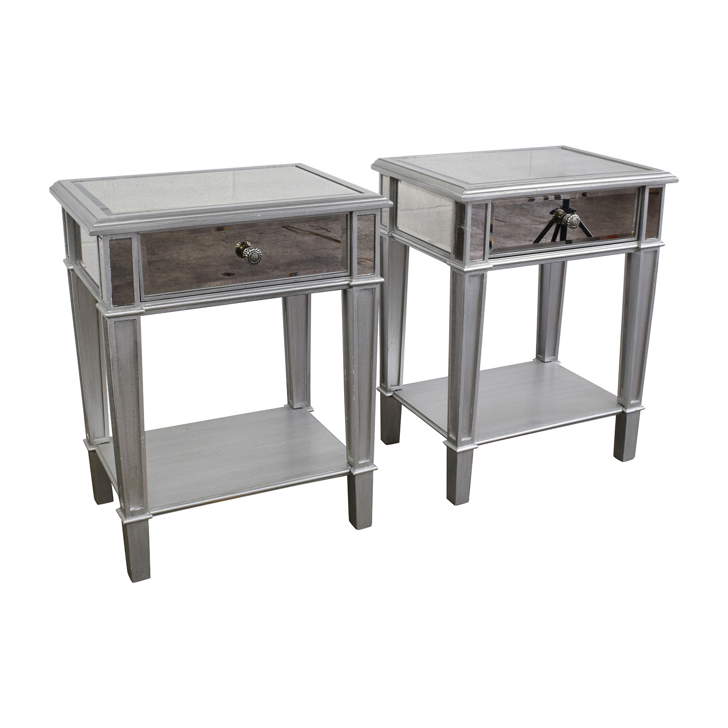 Mirrored Nightstands Modern Mirrored Nightstands With