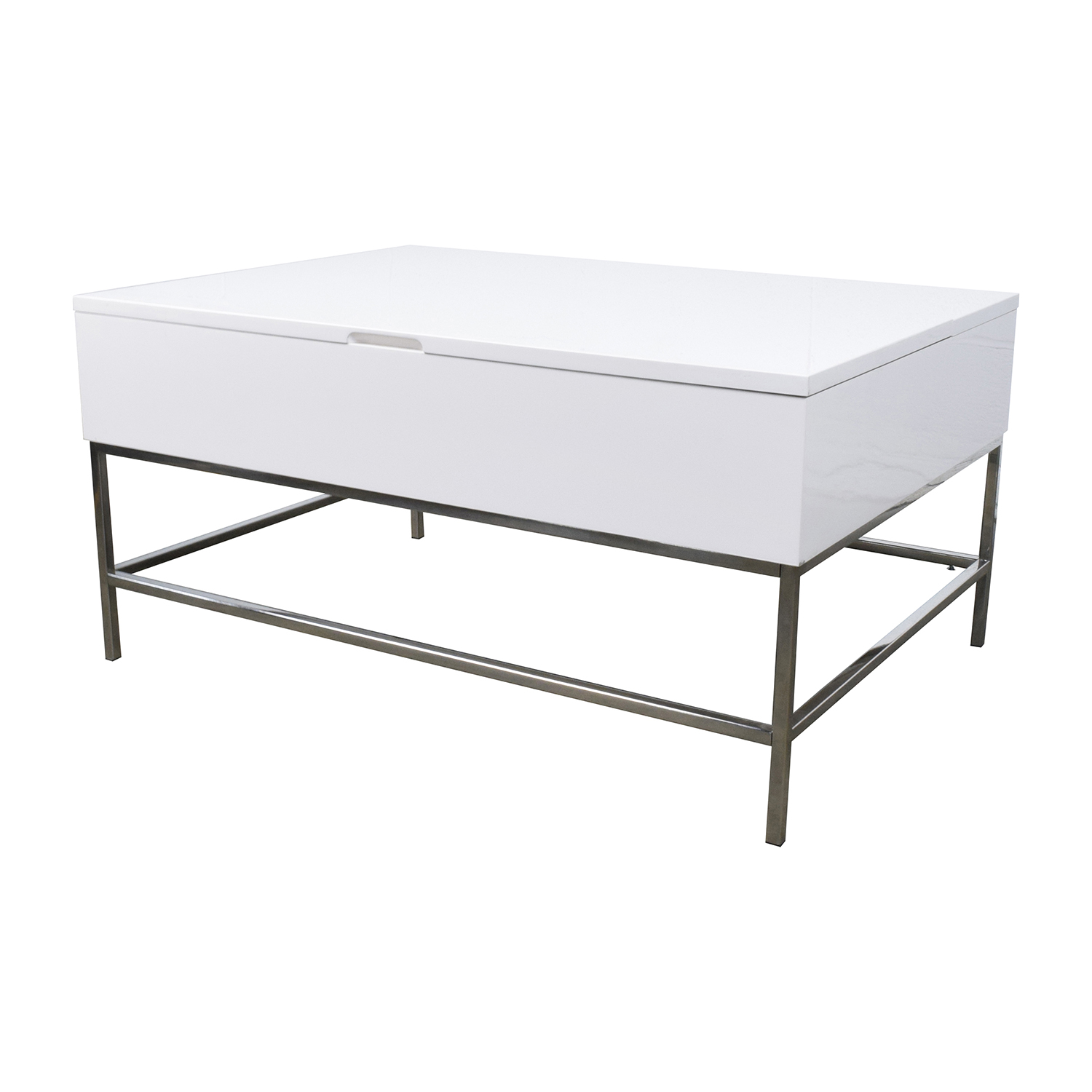 OFF West Elm Storage Table West Elm White Lacquer Wood