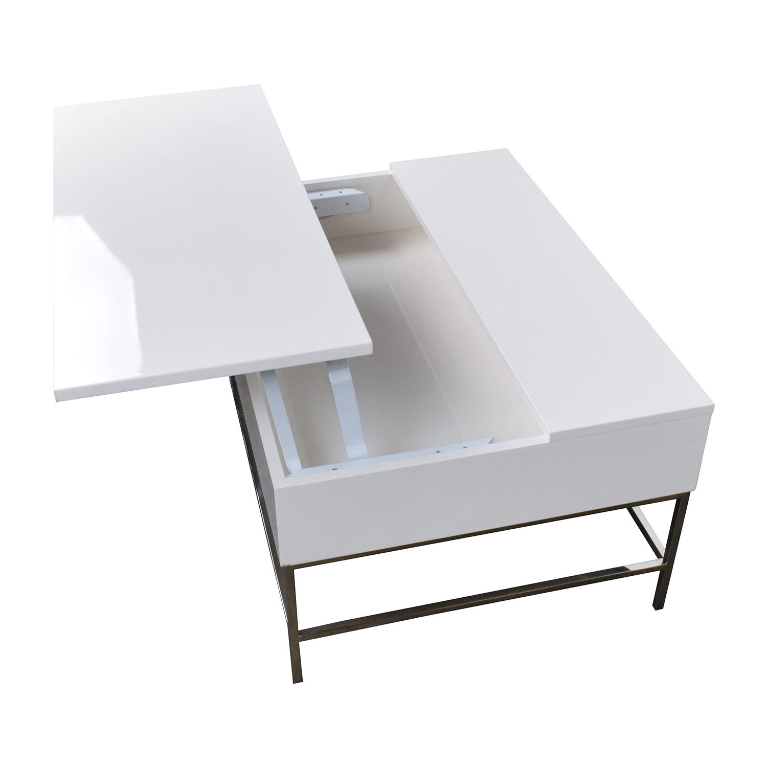 34 Off West Elm Storage Table West Elm White Lacquer Wood Coffee Table Tables