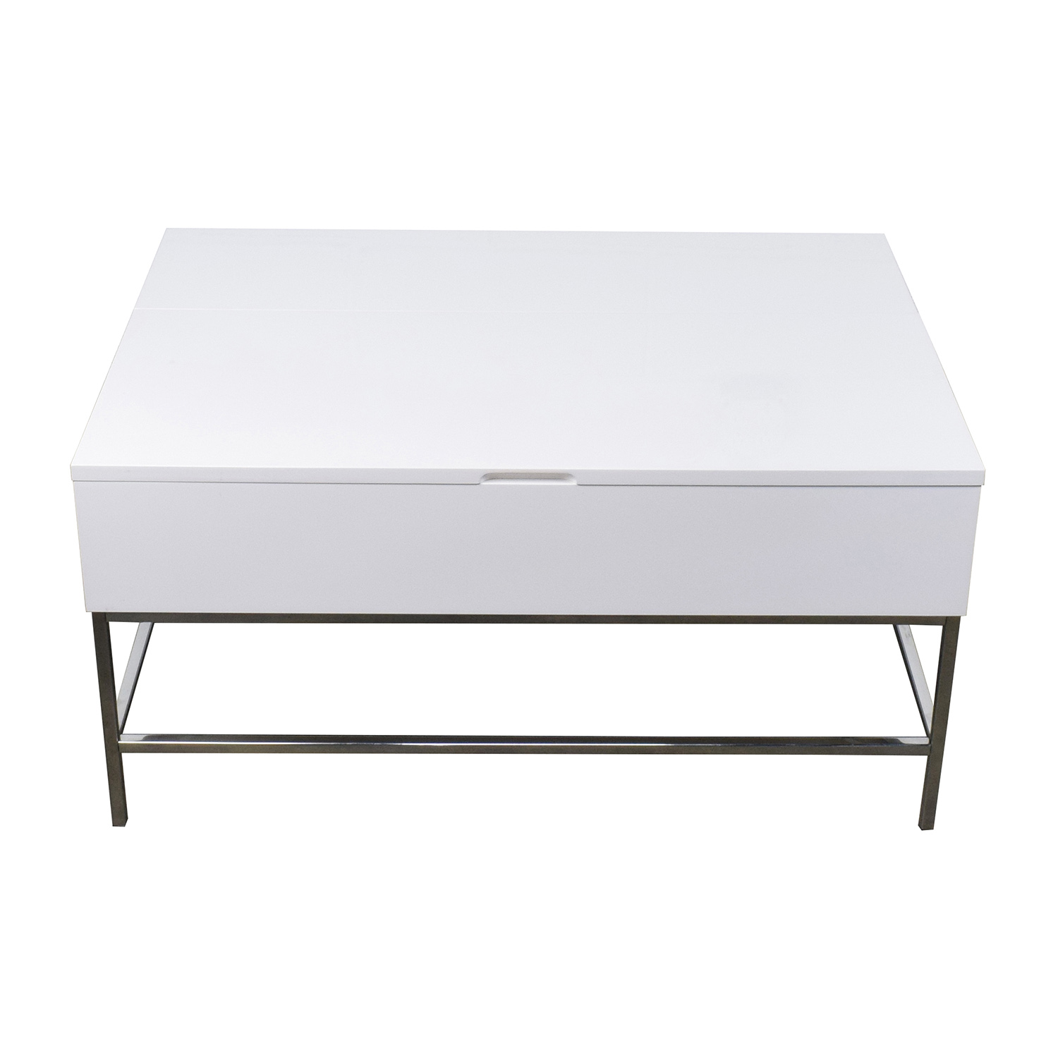 West Elm Storage Table West Elm White Lacquer Wood Coffee Table nj