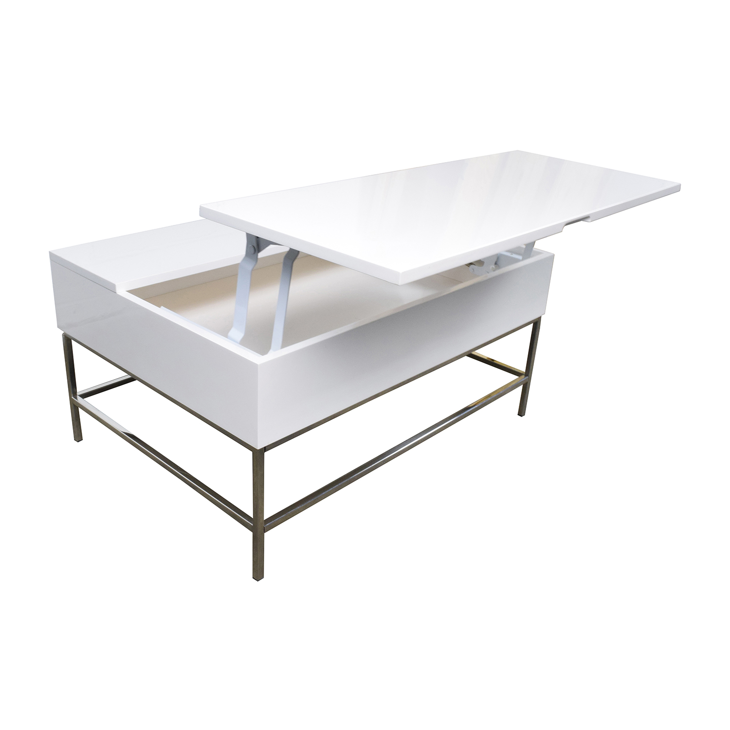 34 Off West Elm Storage Table West Elm White Lacquer