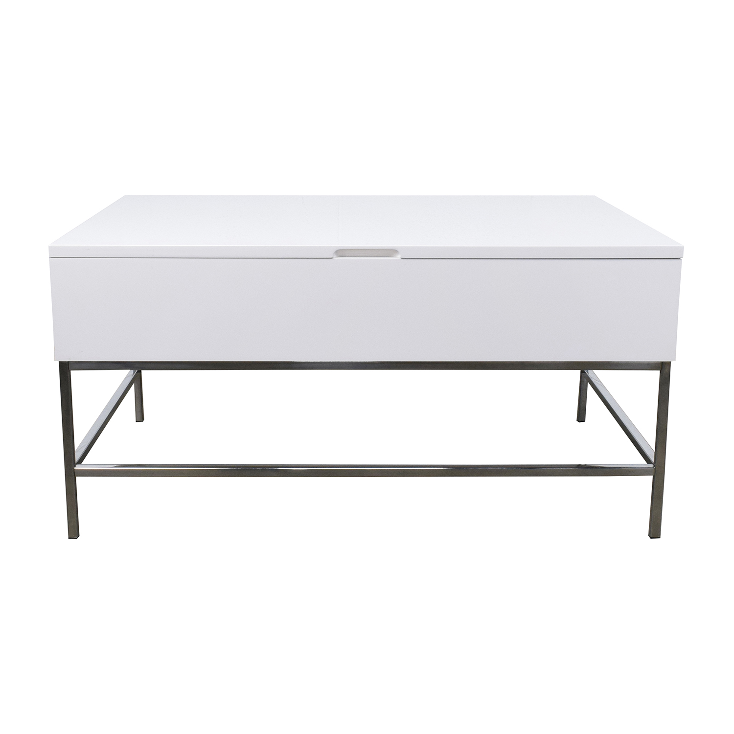 34 OFF West Elm Storage Table West Elm White Lacquer Wood Coffee