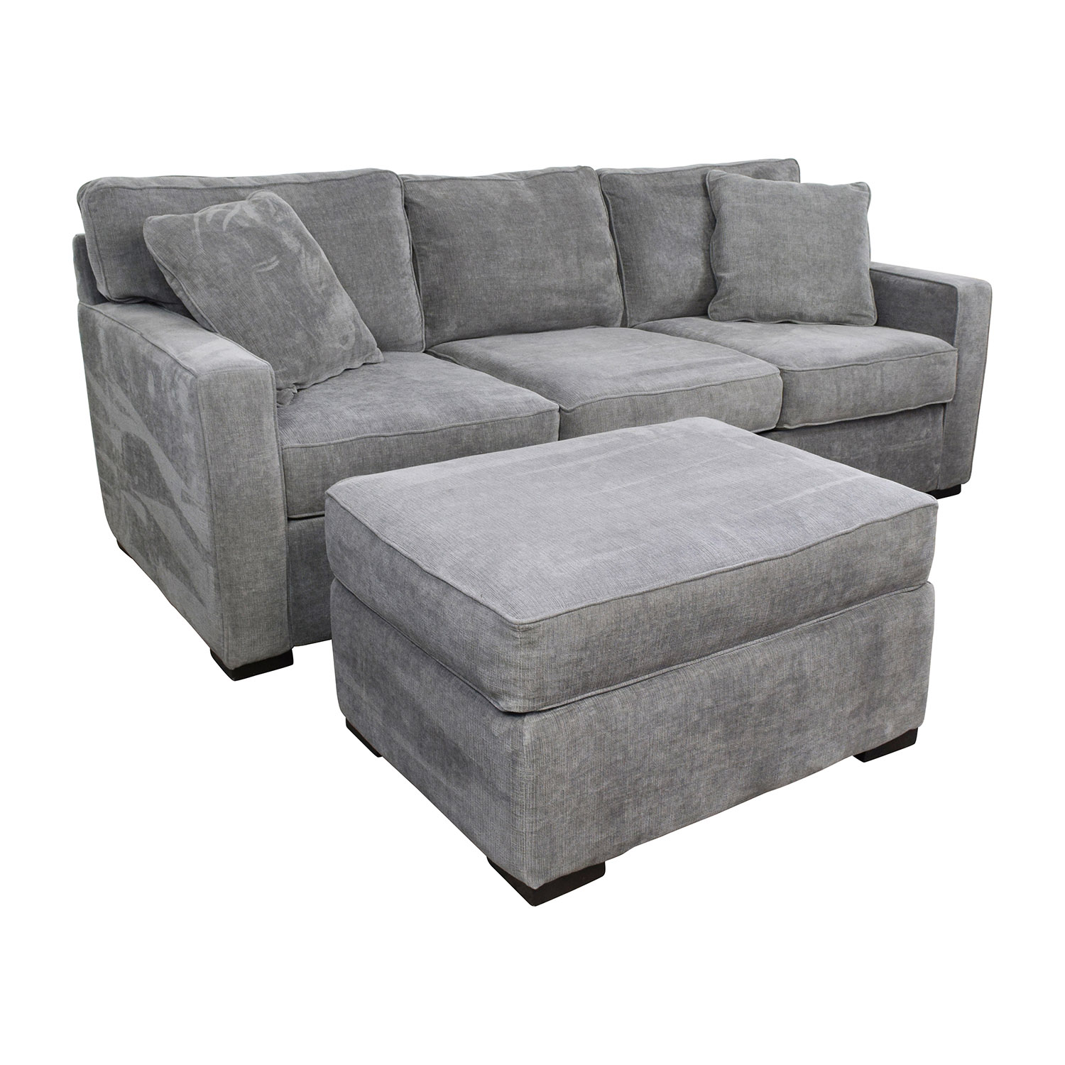 Macy's Macy's Radley Grey Sofa And Ottoman / Sofas