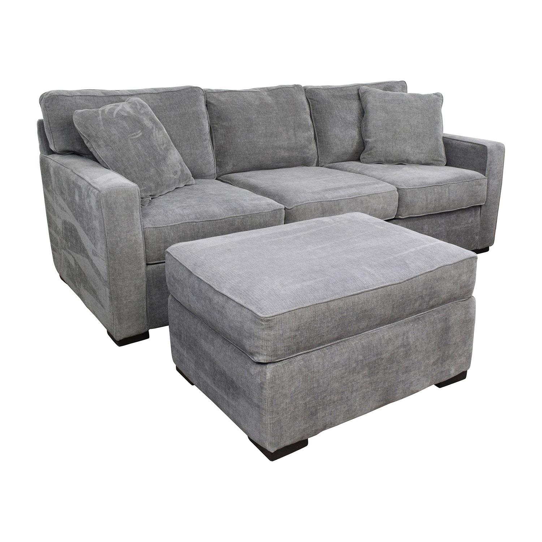Macys Furniture Sofa: Macy's Macy's Radley Grey Sofa And Ottoman / Sofas
