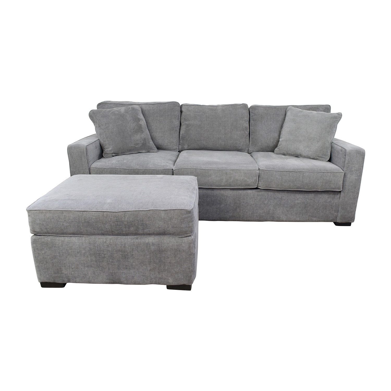 huge selection of 939cb 993b2 58% OFF - Macy's Macy's Radley Grey Sofa and Ottoman / Sofas