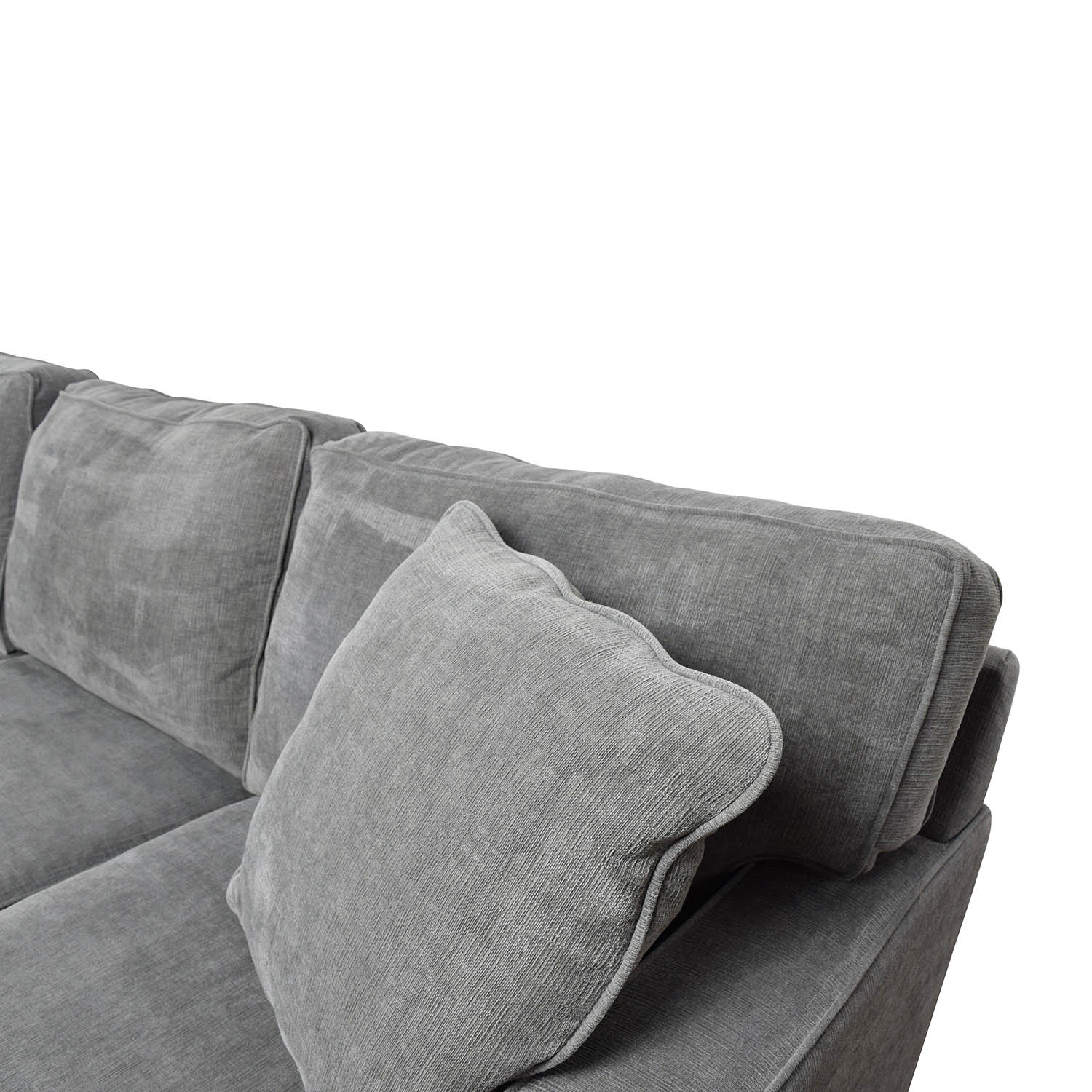 58 Off Macy S Macy S Radley Grey Sofa And Ottoman Sofas