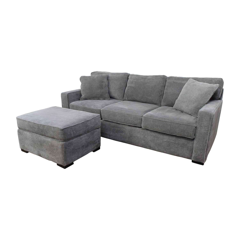 Macys Couch: Macy's Macy's Radley Grey Sofa And Ottoman / Sofas