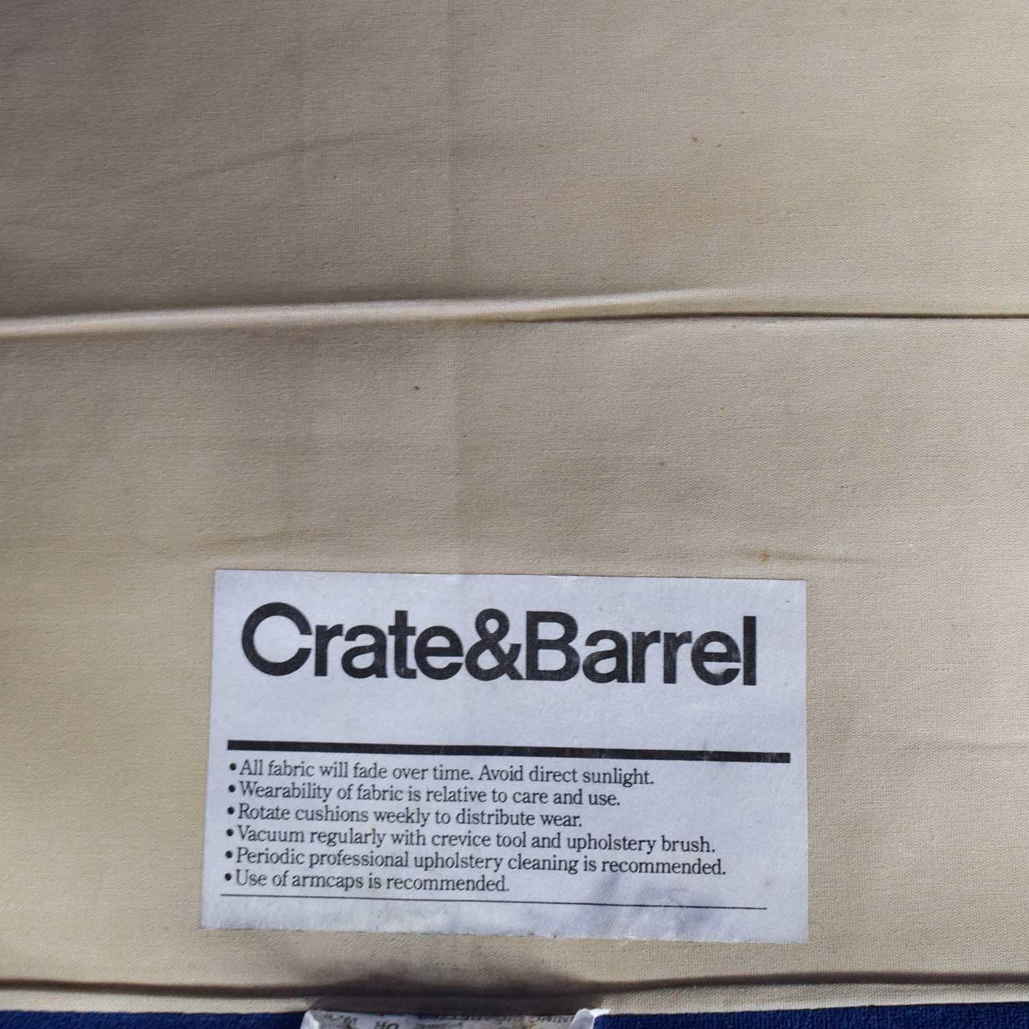 72 Off Crate And Barrel Crate Barrel Axis Two Seater