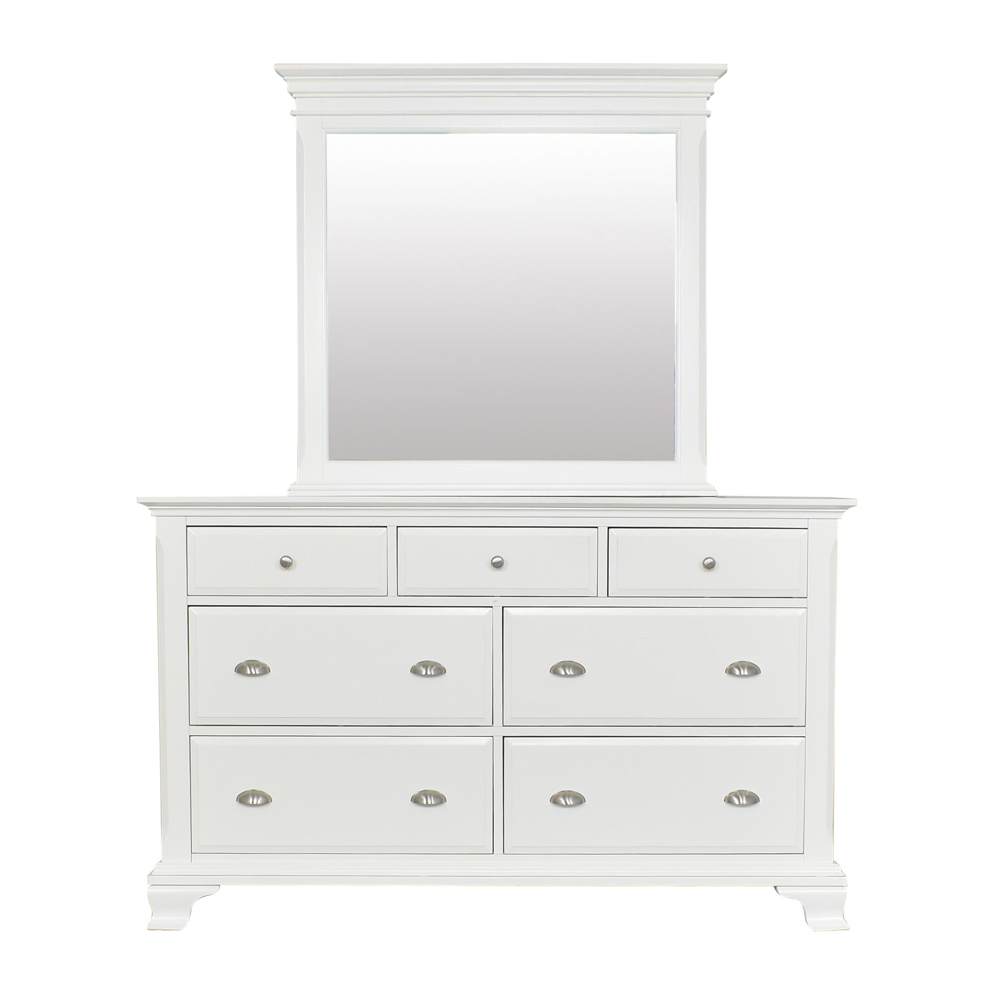 Contemporary Dresser with Mirror ma
