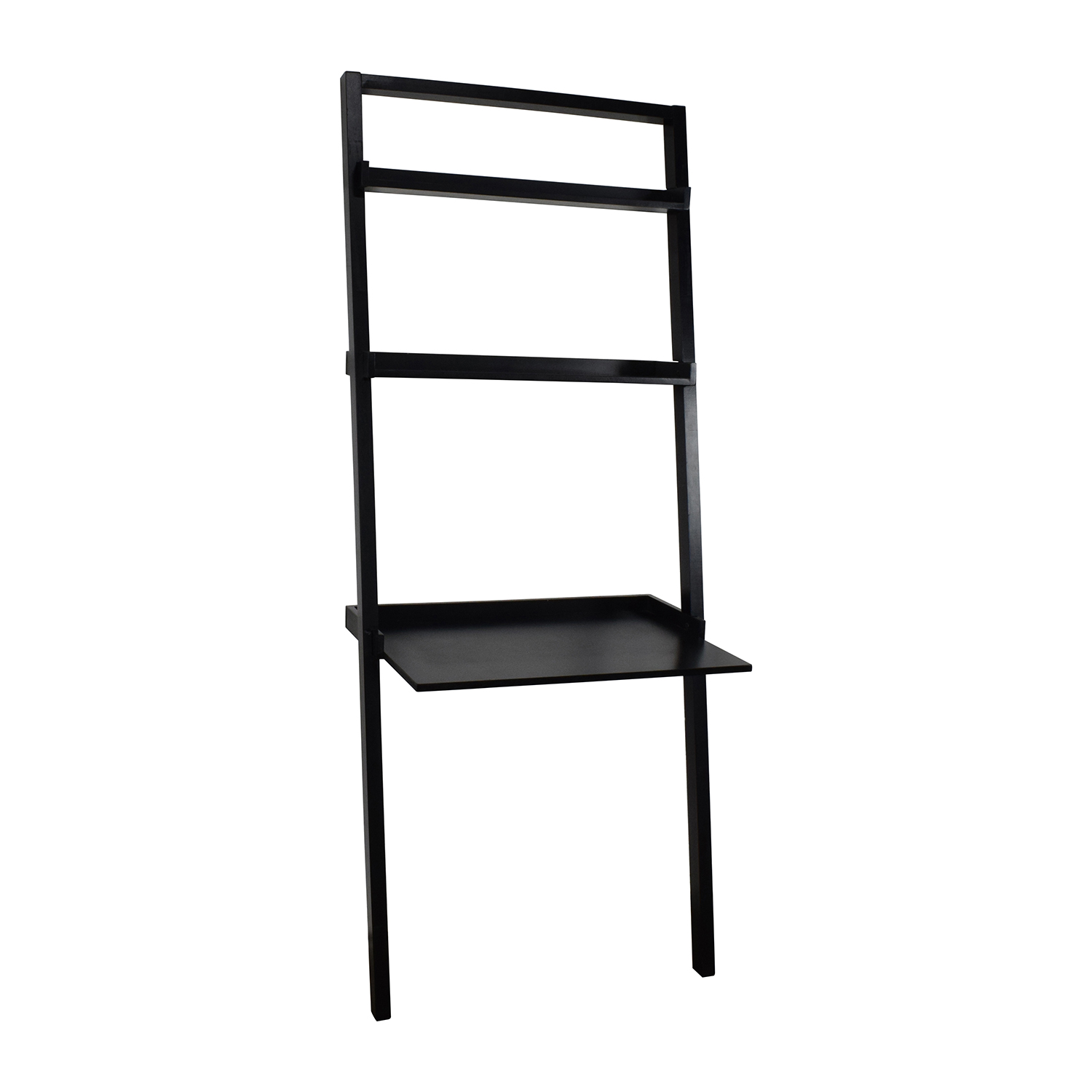 Table With Bookcase: Leaning Table With Book Shelf / Tables