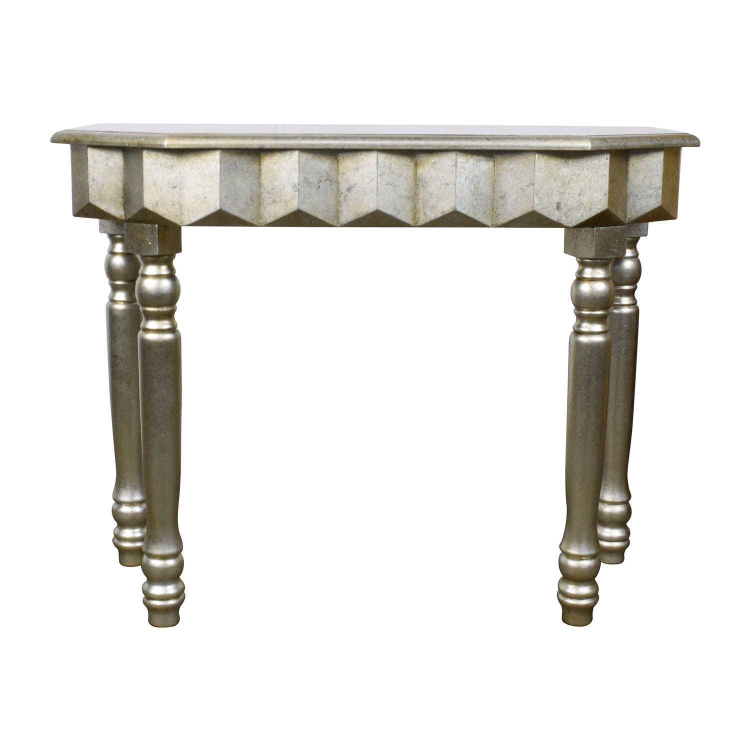 buy Rustic Gold Metallic Console Table online