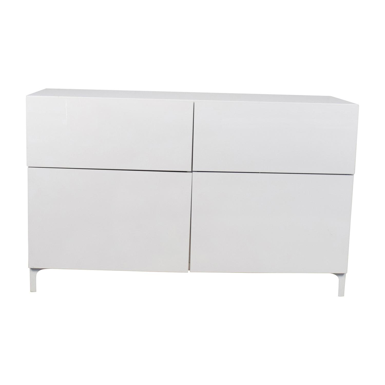 Ikea Besta White Cabinet For