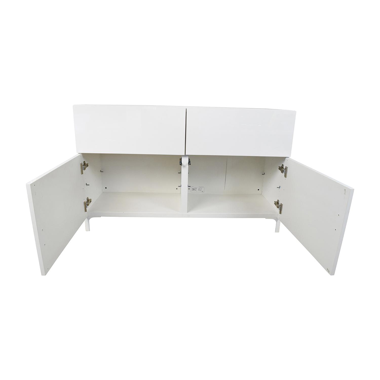 65 Off Ikea Ikea Besta White Cabinet Storage