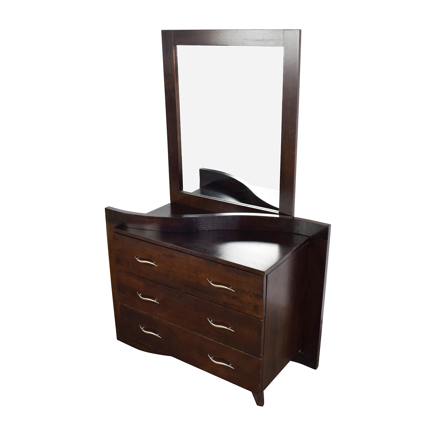 Dark Wood Dressers With Curved Drawers