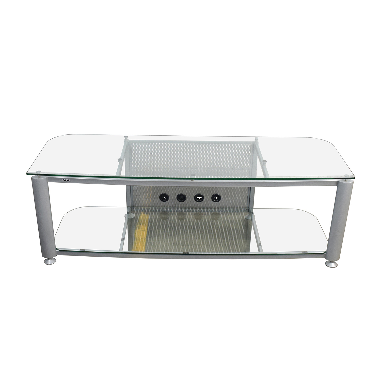 shop Glass and Chrome TV Stand online