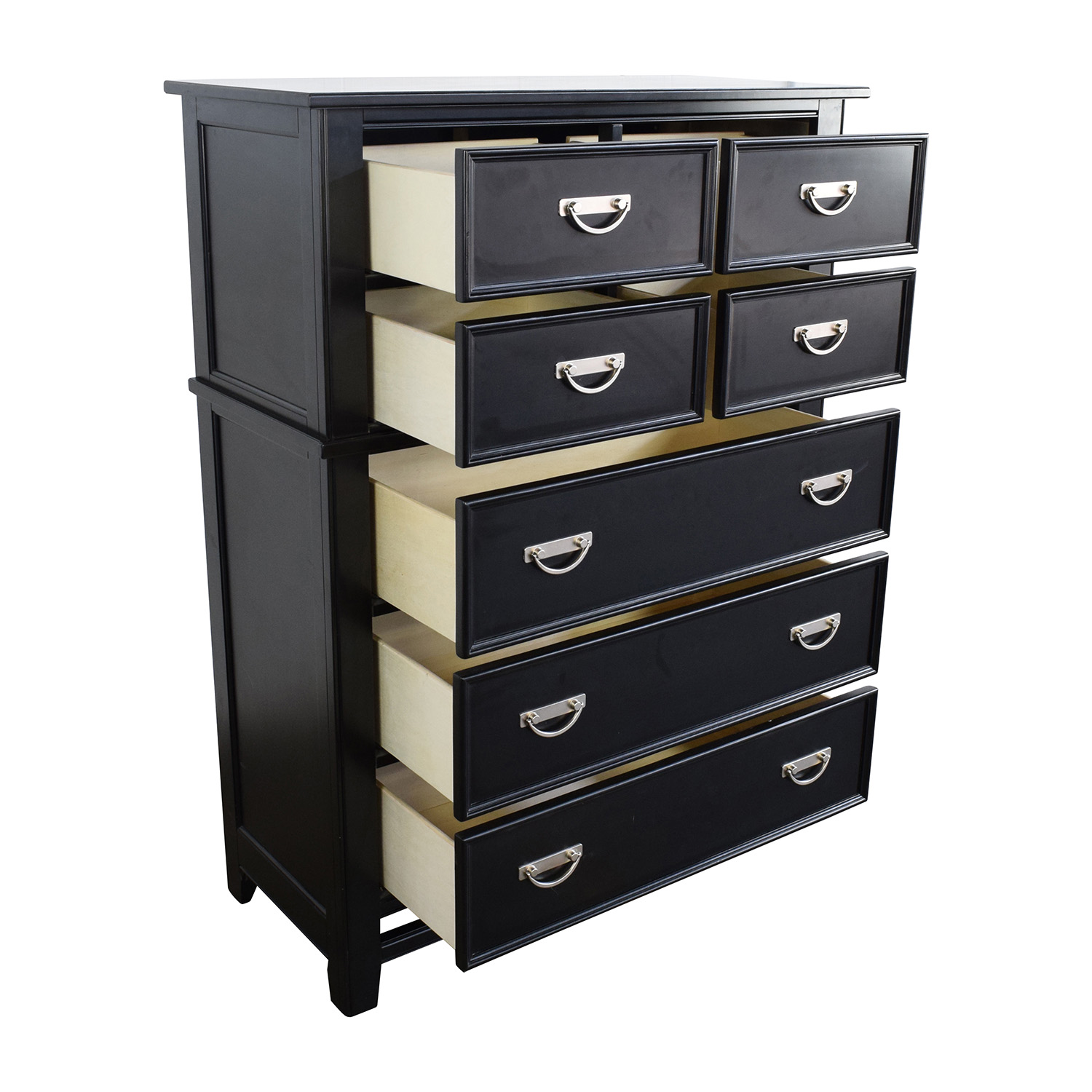 Off klaussner tall black drawer dresser