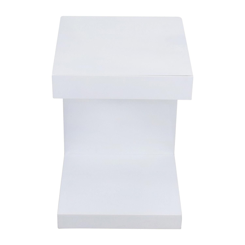 shop Sunpan Modern Home White Lacquer Ikon Bachlor Side Table Sunpan AllModern