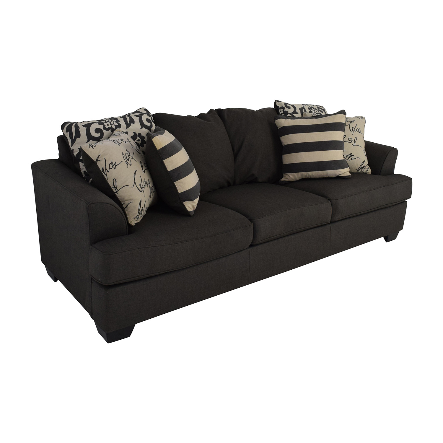 48 off ashley furniture ashley furniture gray fabric sofa sofas. Black Bedroom Furniture Sets. Home Design Ideas