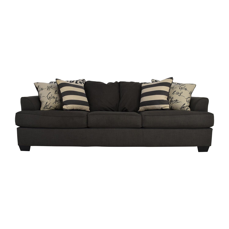 shop Ashley Furniture Gray Fabric Sofa Ashley Furniture