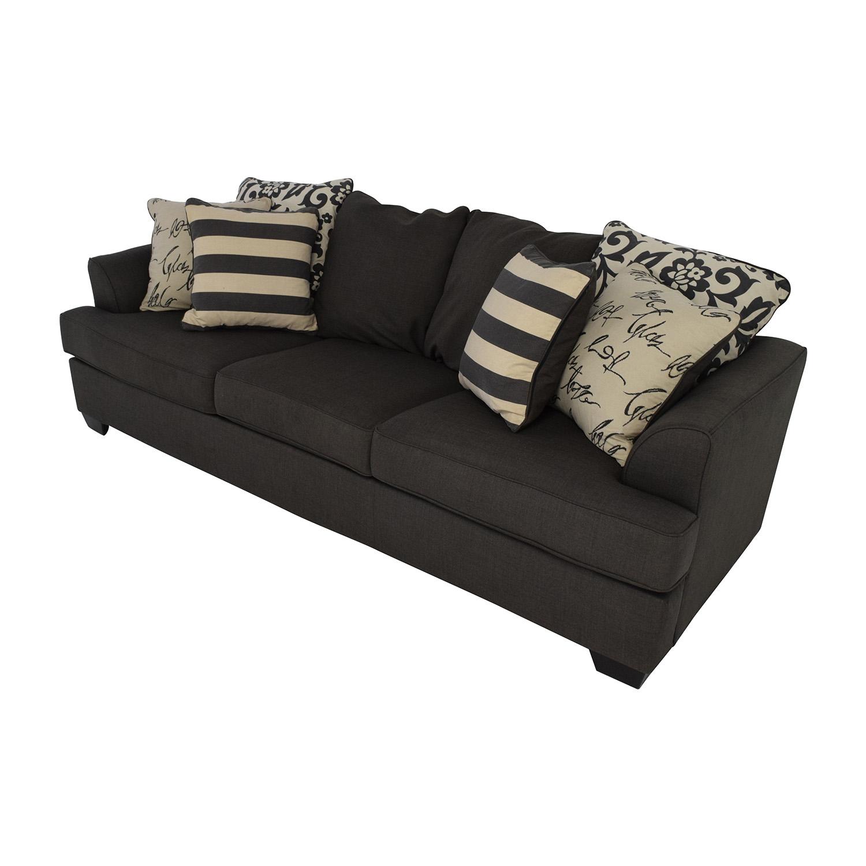 48% OFF Ashley Furniture Ashley Furniture Gray Fabric Sofa Sofas