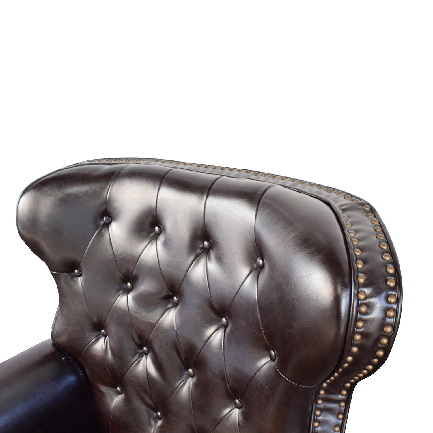 ... Tufted Brown Leather Recliner Chairs ...  sc 1 st  Furnishare & 58% OFF - Tufted Brown Leather Recliner / Chairs islam-shia.org