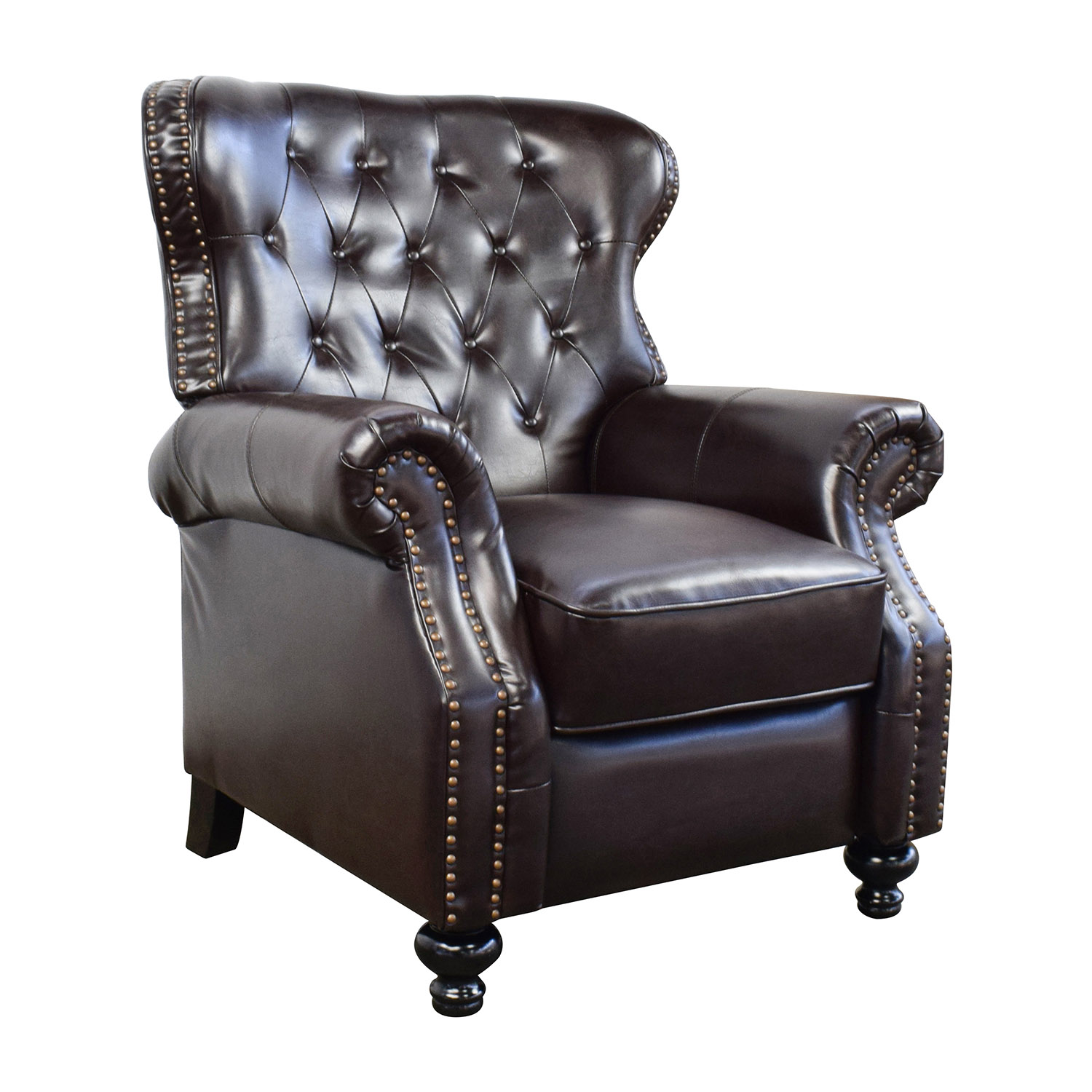 58% OFF Tufted Brown Leather Recliner Chairs