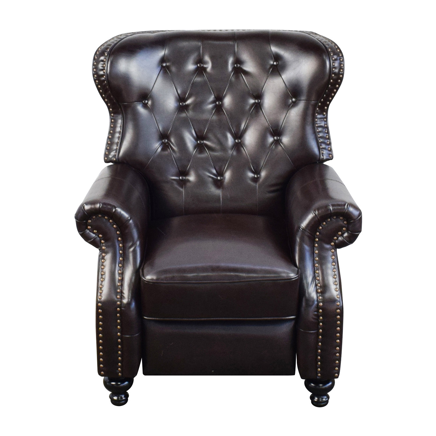Tufted Brown Leather Recliner / Recliners