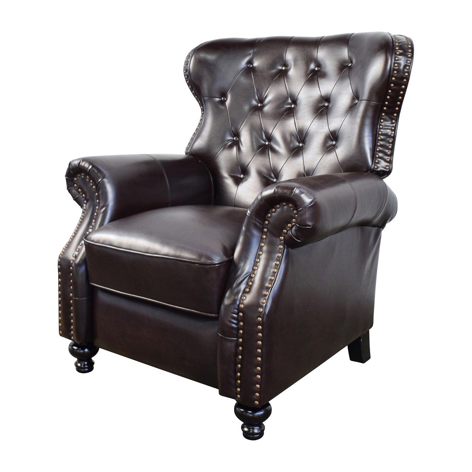 58 Off Tufted Brown Leather Recliner Chairs