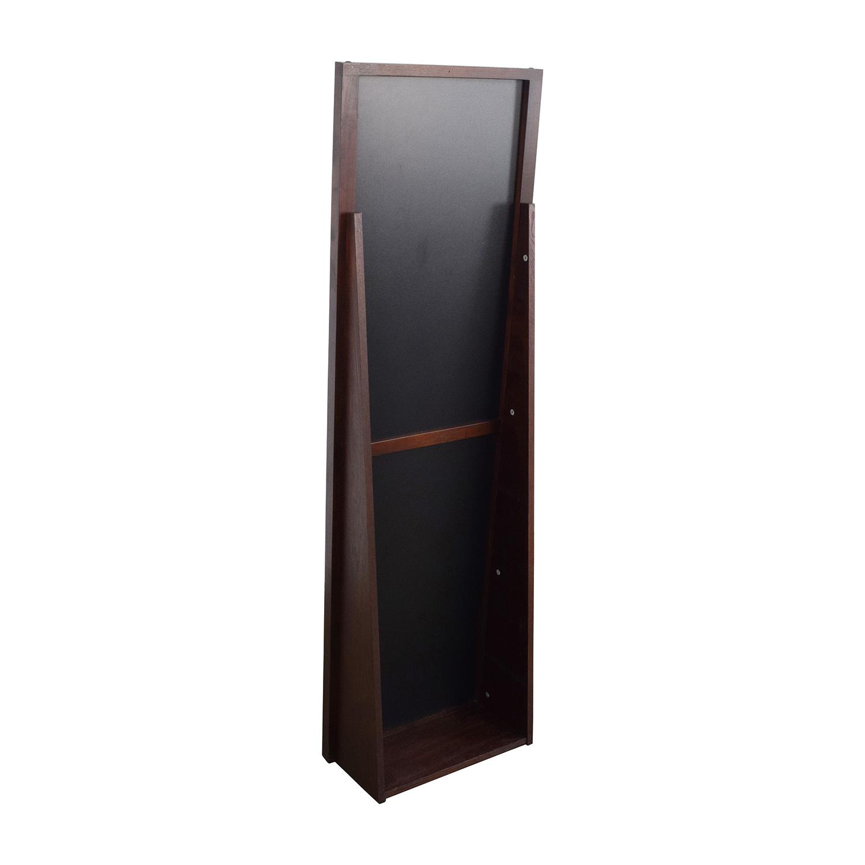 72% OFF - Crate and Barrel Crate & Barrel Loop Floor Mirror / Decor
