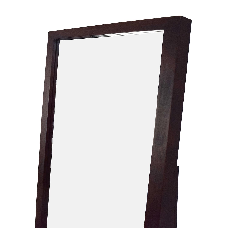 72% OFF - Crate and Barrel Crate u0026 Barrel Loop Floor Mirror / Decor