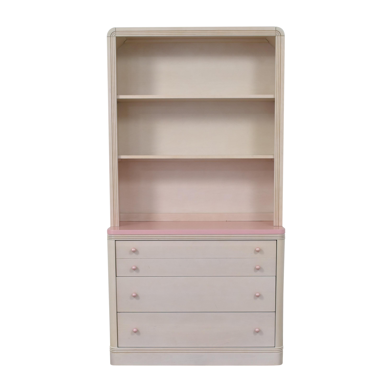 Ragazzi Ragazzi Three Drawer Dresser with Hutch Pink / Beige