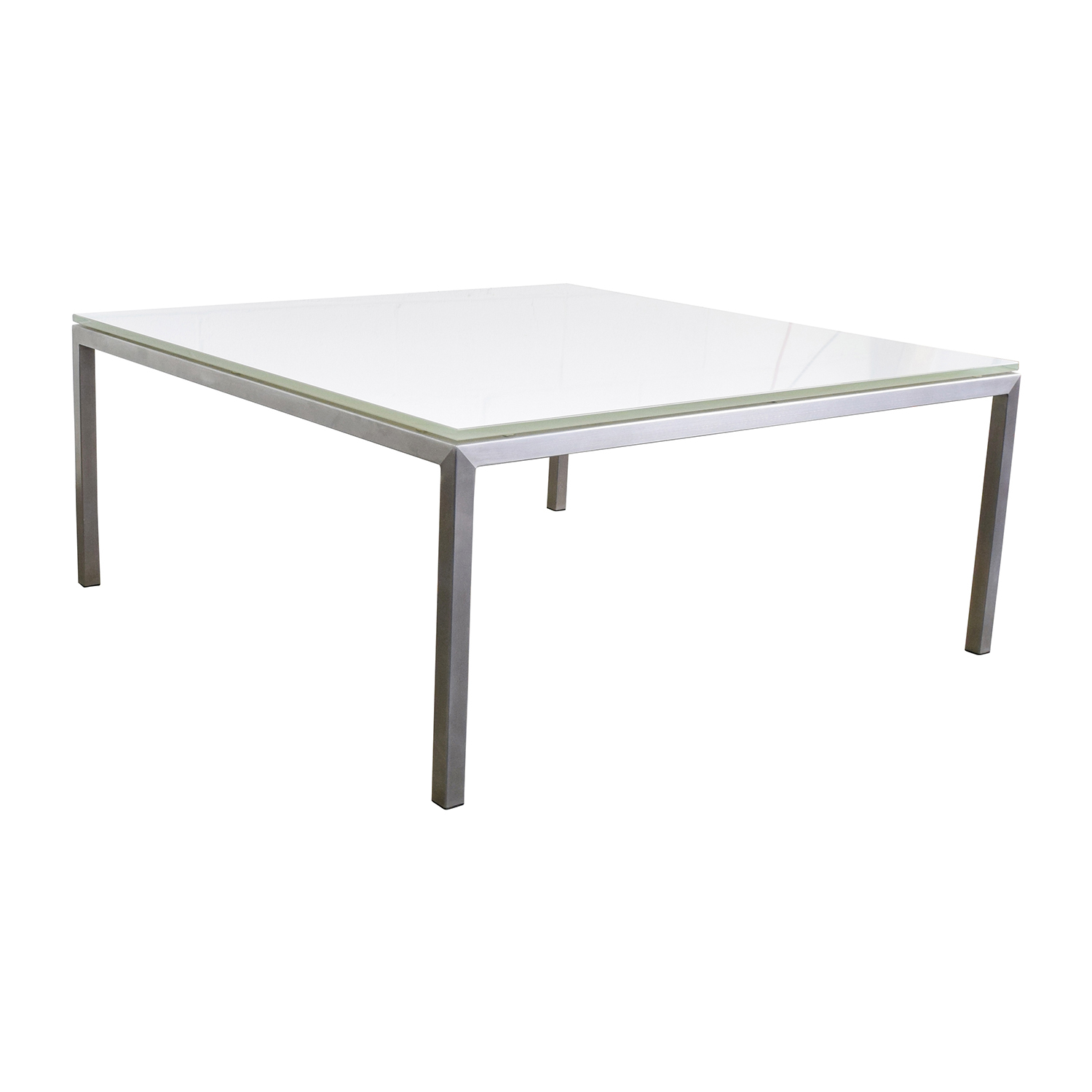 77 off portica portica white glass cocktail table tables for White and glass coffee table