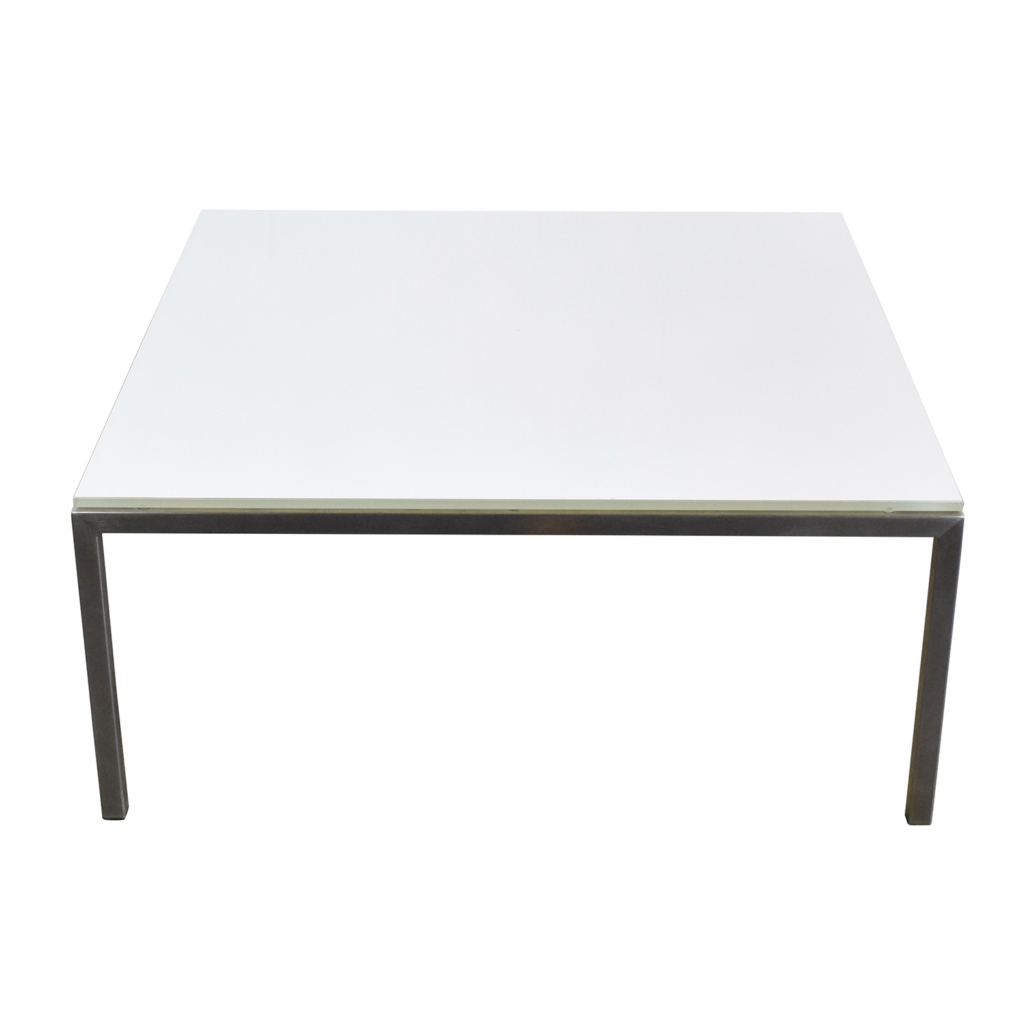 Portica White Glass Cocktail Table / Tables