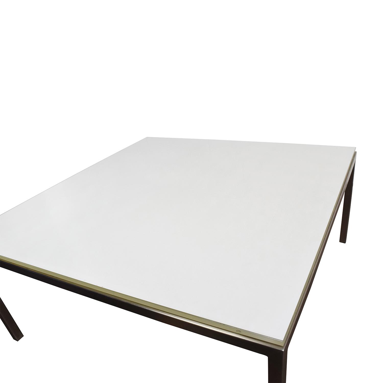 Portica Portica White Glass Cocktail Table nyc