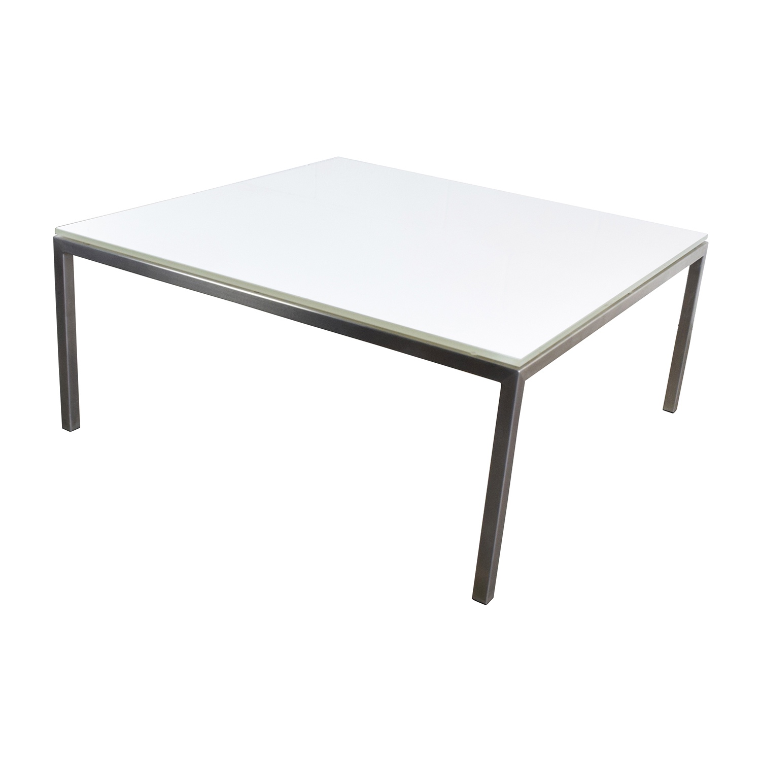 77 off portica portica white glass cocktail table tables Used glass coffee table