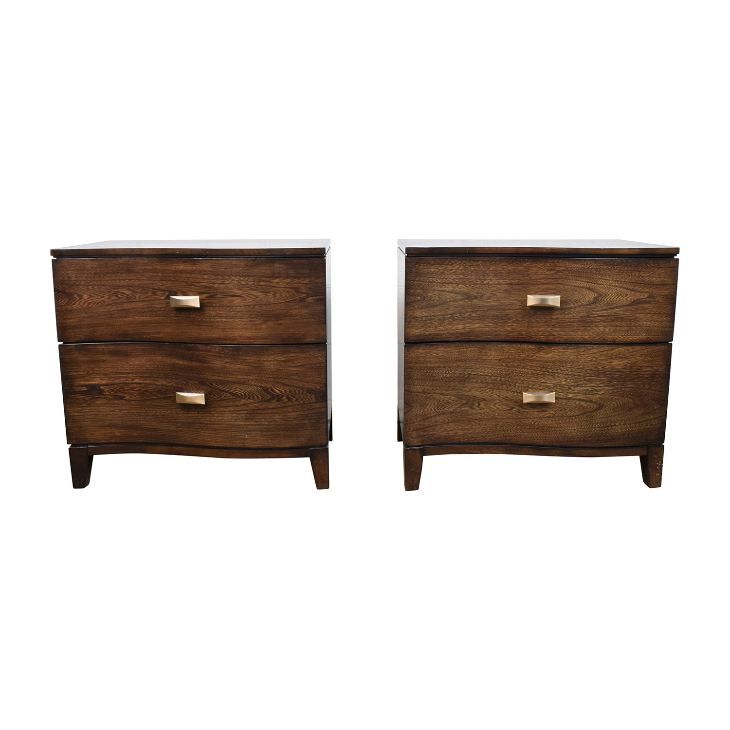 Shop Raymour U0026 Flanigan Curved Wood Nightstand Raymour And Flanigan Tables  ...