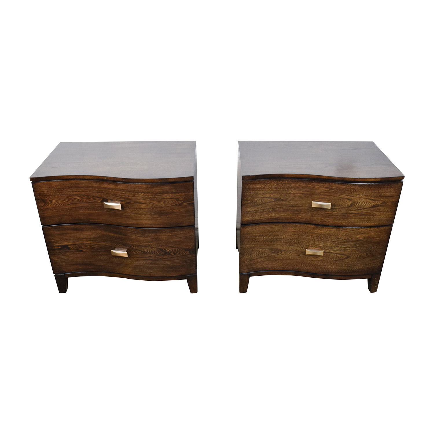 Raymour and Flanigan Raymour & Flanigan Curved Wood Nightstand used