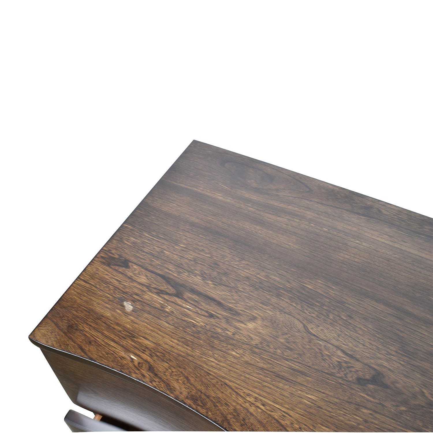 87% OFF - Raymour and Flanigan Raymour & Flanigan Curved Wood Nightstand / Tables